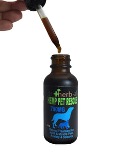 Hemp Pet-Rescue Oil Tincture [700mg Hemp (1oz)]
