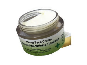 Hemp CBD face creme lotion wrinkle treatment luxury natural organic cruelty free Wild West weed and seed