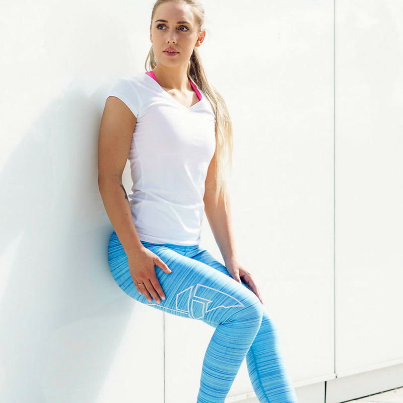 Blue Flow Tights