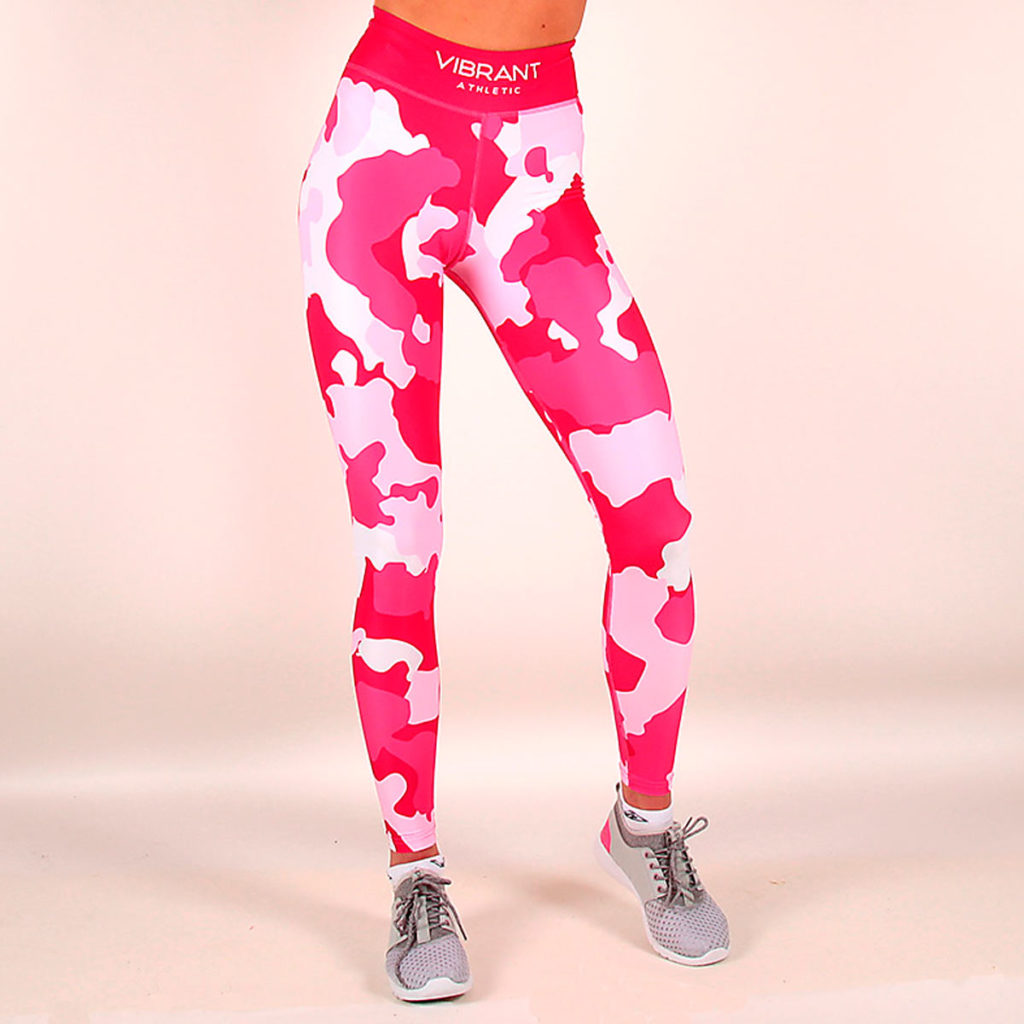 Pink Camo Tights