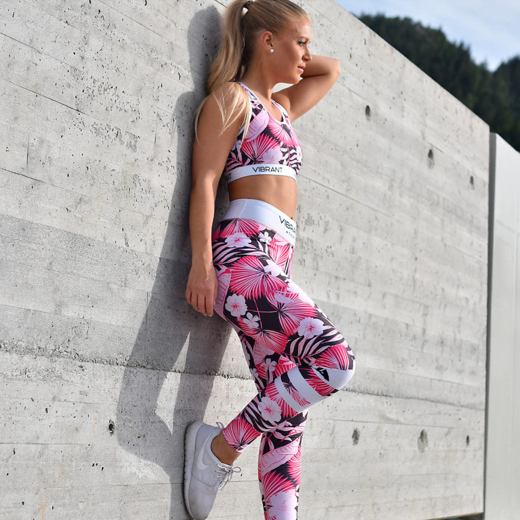 Pink Wildflower Tights