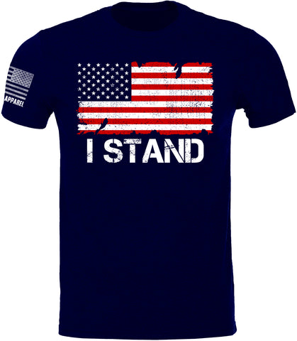 Youth I STAND SoftStyle T-Shirt W/ Flag