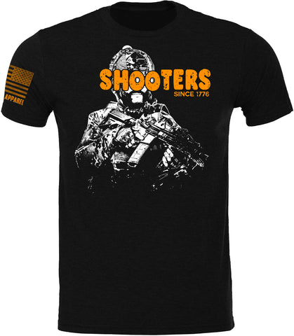 Shooters Mens SoftStyle T-Shirt W/ Flag TOP SELLER
