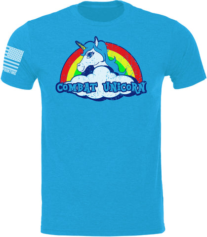 Youth Combat Unicorn Light Blue SoftStyle T-Shirt