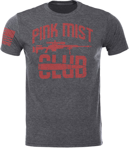 Pink Mist Club Grey SoftStyle T-Shirt W/ Flag