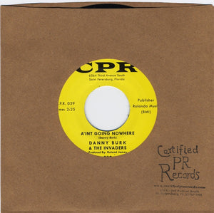 "Danny Burk & The Invaders - 7"" certified pr records"