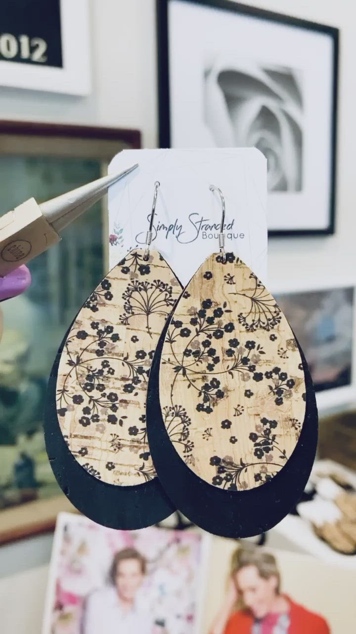 Dandelion Cork Earrings