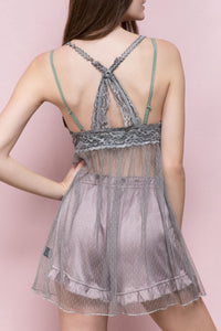 Sheer Lace Babydoll **TWO COLORS