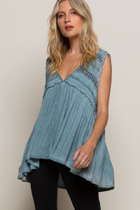 Teal Oversized Tunic Tank