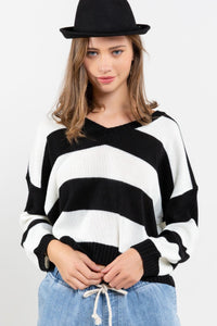 Striped Cropped Sweater ** TWO COLORS