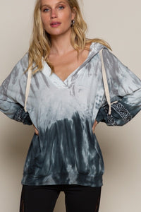 Tie Dye Top with Back Detail