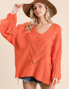 Chunky Knit Off The Shoulder Sweater***2 Colors!