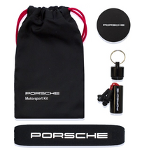 Load image into Gallery viewer, Porsche Motorsport Team Softshell Jacket Black/White