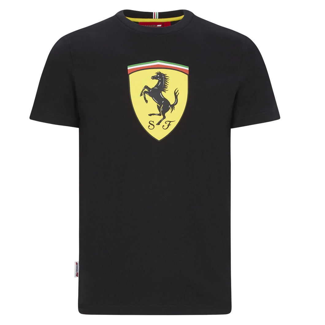 Scuderia Ferrari F1 Kids Large Shield T-Shirt Black