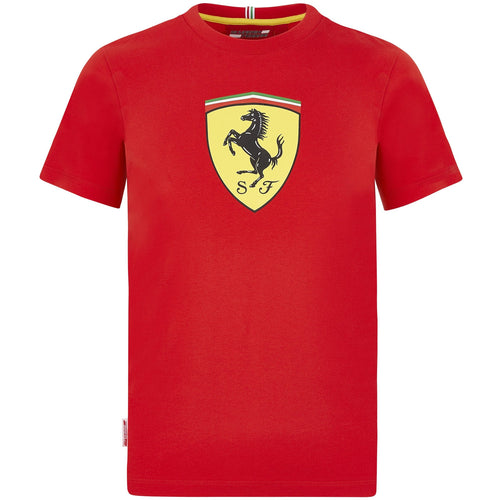 Scuderia Ferrari F1 Kids Large Shield T-Shirt Red