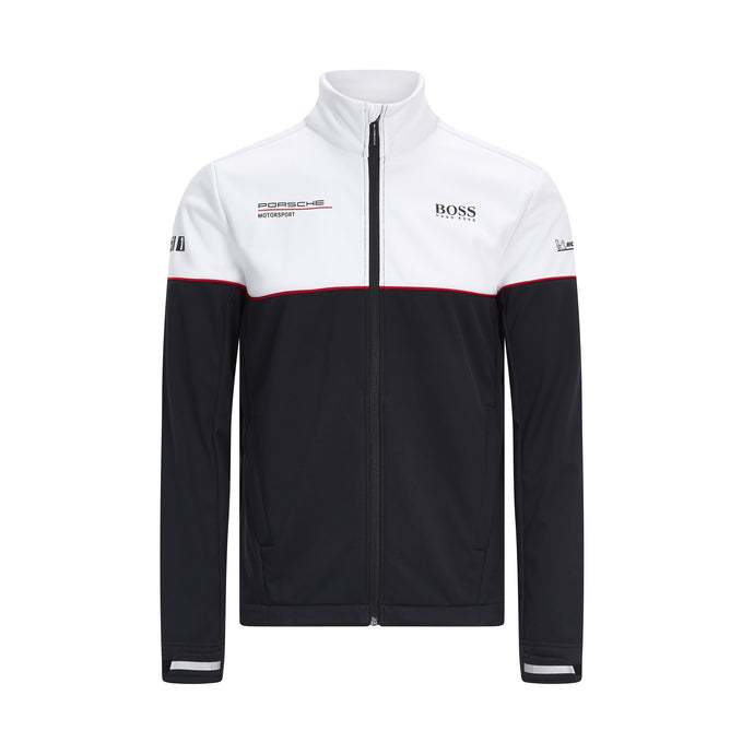 Porsche Motorsport Team Softshell Jacket Black/White