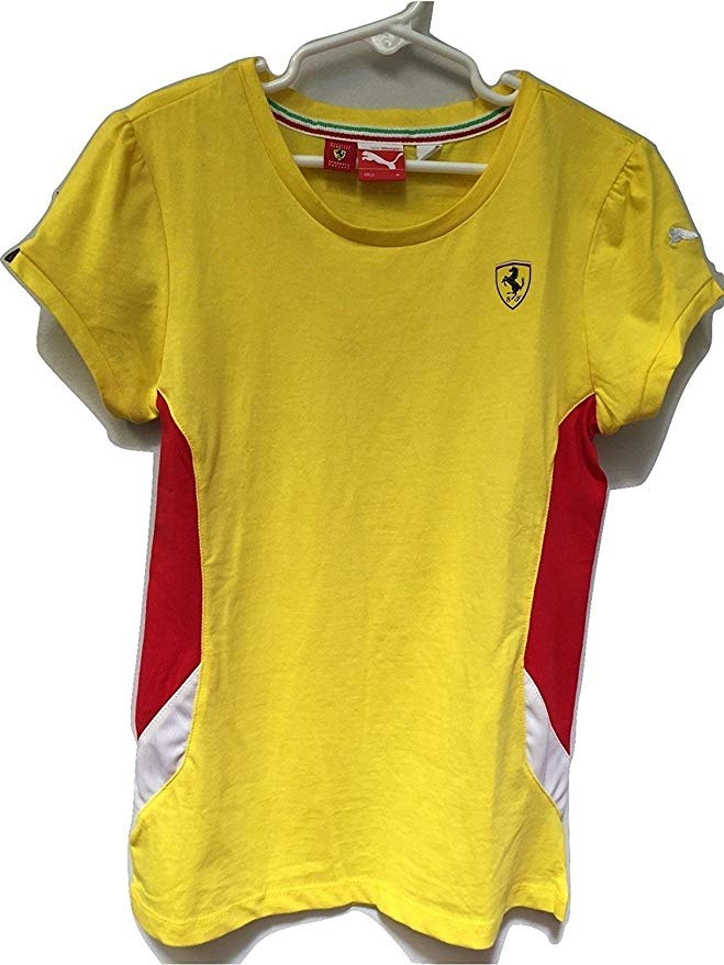 Ferrari Girl's T-Shirt Yellow