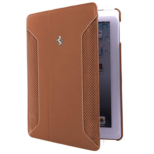 FERRARI iPad Air Folio Case, Camel