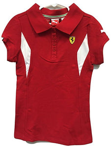 Ferrari Girl's Polo Shirt Red