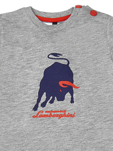 LAMBORGHINI Big Bull Babies Long Sleeve T-Shirt Grey