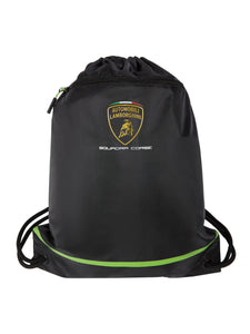 Lamborghini Squadra Corse Team Draw String Bag Black
