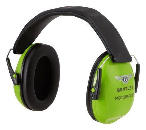 Bentley Motorsport 2020 Children's Ear Defenders Gray/Lime Green