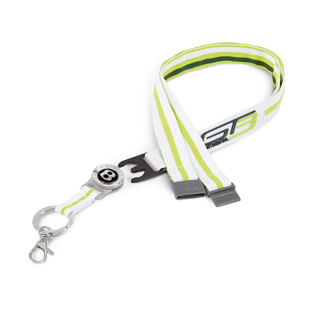 Bentley Lanyard White/Green