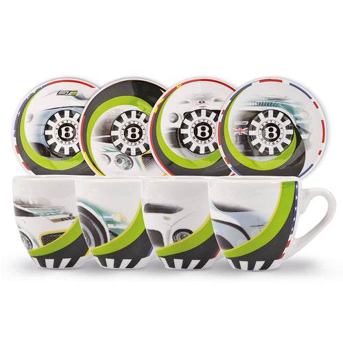 Bentley Motorsport Espresso Set Gray/White/Green