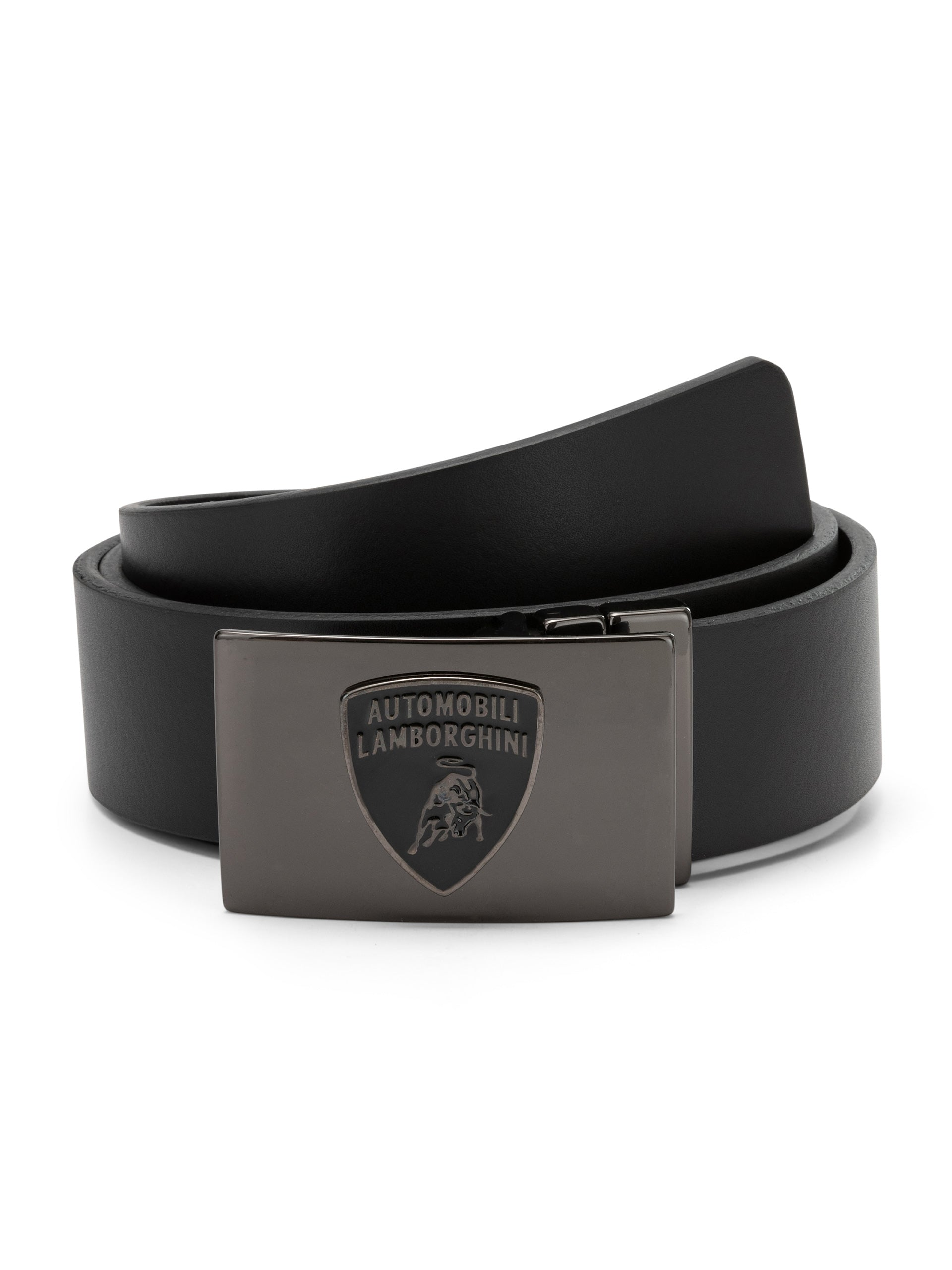 Lamborghini Leather Belt Black