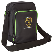 Load image into Gallery viewer, Lamborghini Squadra Corse Team Shoulder Bag Black