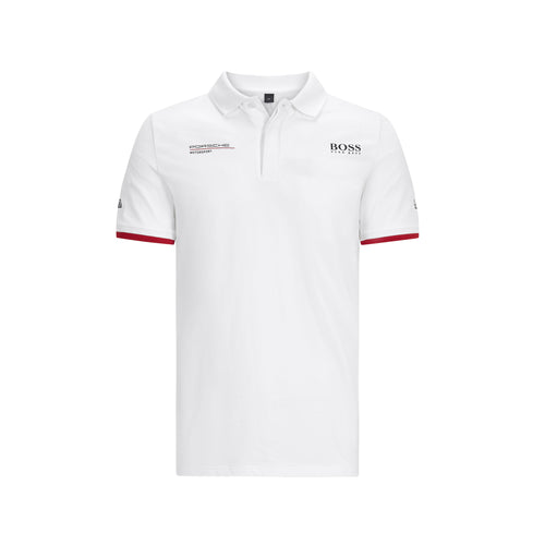 Porsche Motorsport Men's Team Polo Shirt White