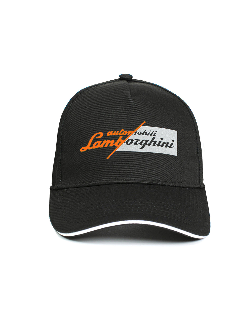 Lamborghini Slashed Logo Cap Black/Orange