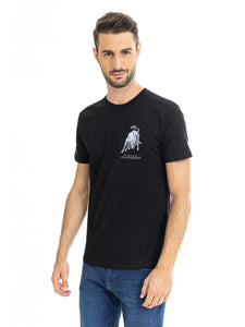 Lamborghini Men's Bull 1963 Small Bull T-Shirt Black