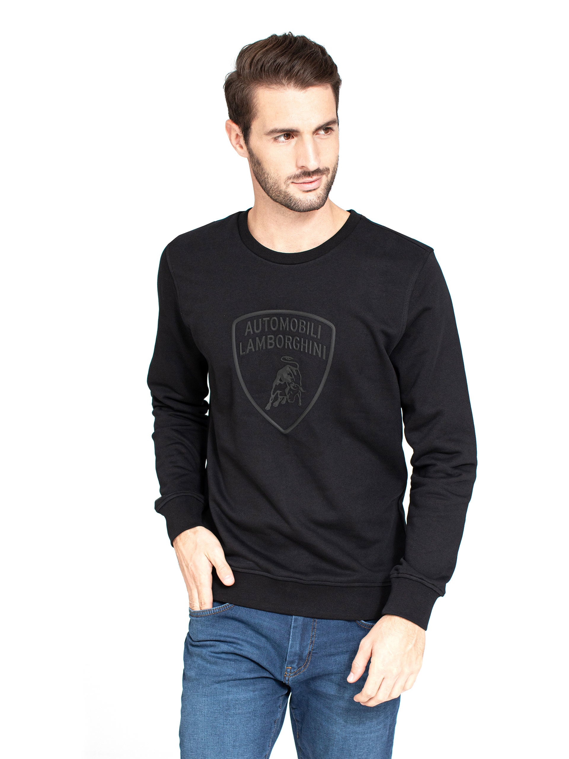 Lamborghini Men's 3D Big Shield Sweatshirt Black
