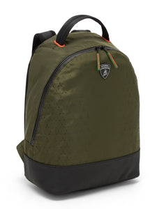 Lamborghini Y-Shape-Print Backpack Olive/Brown