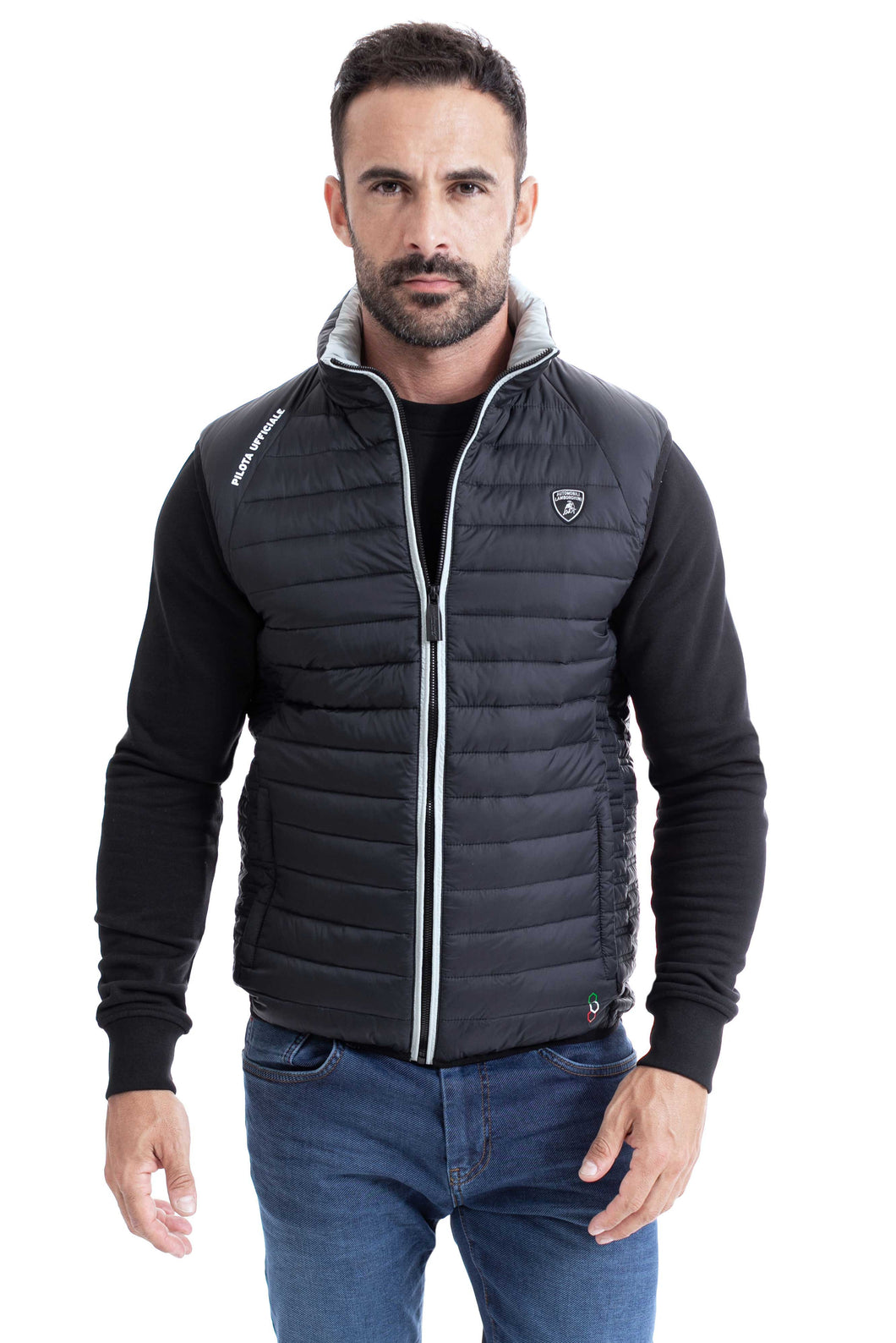 Lamborghini Lightweight Quilted Down Vest Black