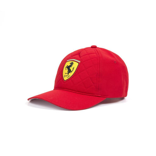 Ferrari Quilt Stitched Hat in Red