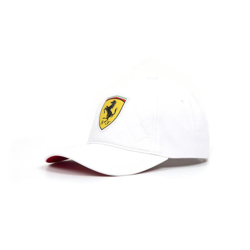 Ferrari Quilt Stitched Hat in White