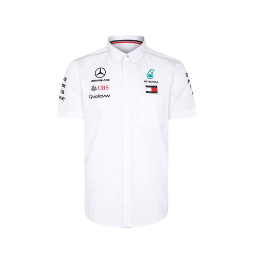 Mercedes AMG Petronas Motorsport Men's Team Short Sleeve Shirt White