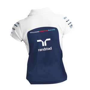 Williams Martini Racing Women's Team Zip Polo Shirt White/Navy