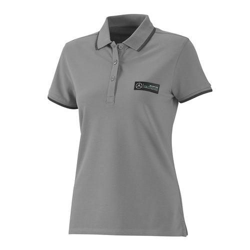 Mercedes AMG Petronas F1 Women's Classic Polo Shirt, Grey
