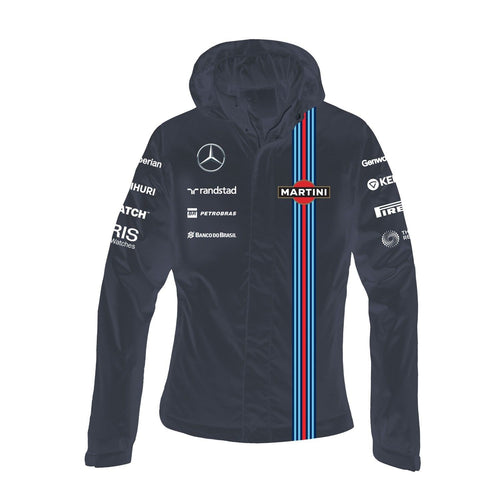 Williams Martini Racing Women's Team Waterproof Jacket Navy