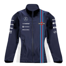 Load image into Gallery viewer, Williams Martini Racing Women's Team Softshell Track Jacket Navy