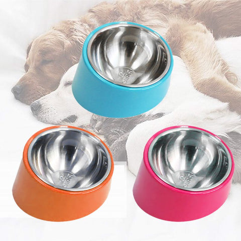Simple Design Mess Free Pet Bowl 15 Degree Slanted Bowl for Dogs and Cats