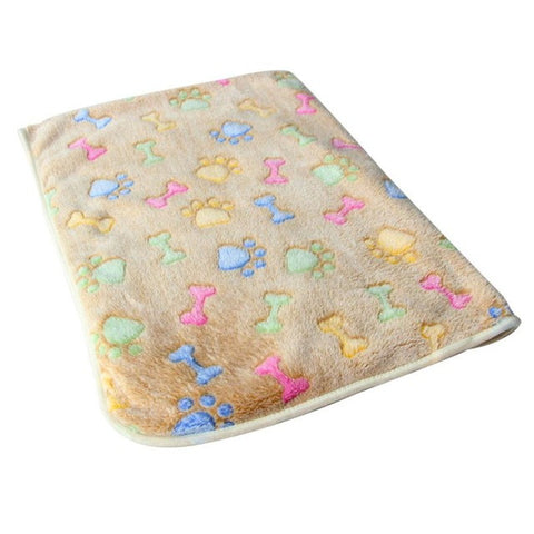 Hamsters Pad Blanket Pet Cat Mat Dog Puppy Warm Bed Paw Coral Fleece Cover