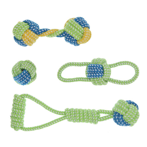 LemonBest Cotton Dog Rope Toy Knot Puppy Chew Teething Toys