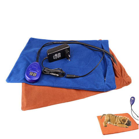 Winter Pets Heating Pad Electric Warming Mat Chew Resistant Comfortable Soft 7 Grade Temp/Overheat Protection for Dogs Cats Beds