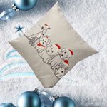 Vintage Christmas Cute Dog Sofa Bed Home Decoration Festival Pillow Case Cushion Cover
