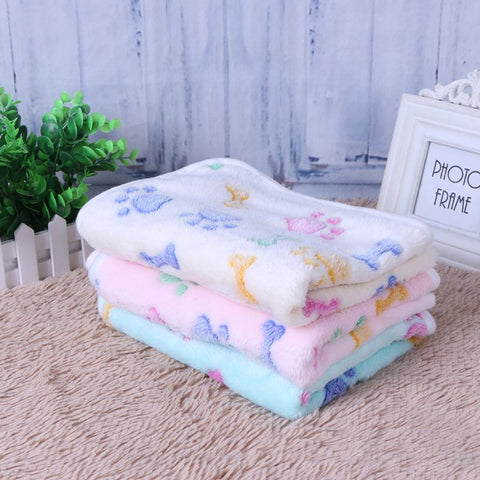 Pet Sleeping Mat Winter Warm Coral Fleece Dog Cat Blanket Soft Animals