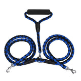 Dual Double Dog Leash No Tangle W Soft Handle for Two Dogs